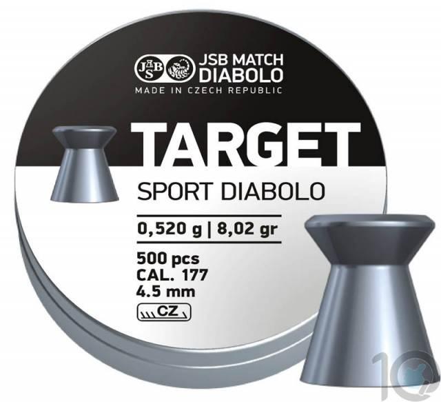 JSB TARGET SPORT .177 CAL, 8.02 GRAINS, WADCUTTER 500 pellet