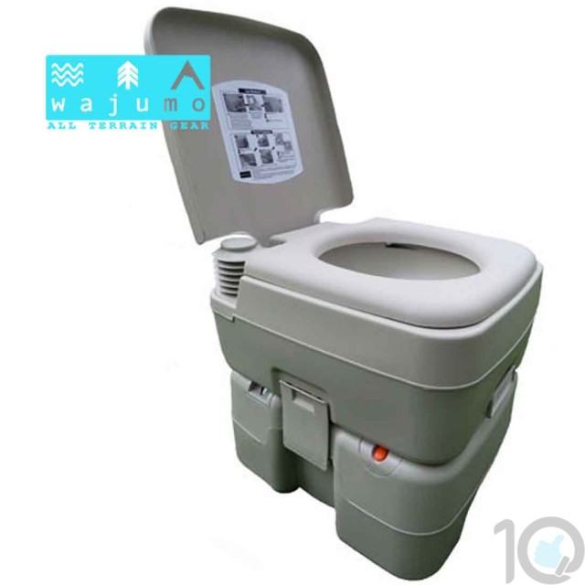 Wajumo-ATG Camping Toilet Commode with Flush and Jet Spray | 10kya.com Outdoor Gear