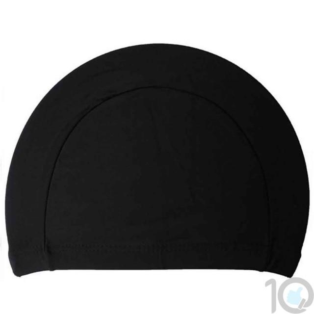 10Dare Swimming Cap   Black   Uni-Sex   10kya.com Swimming Store Online