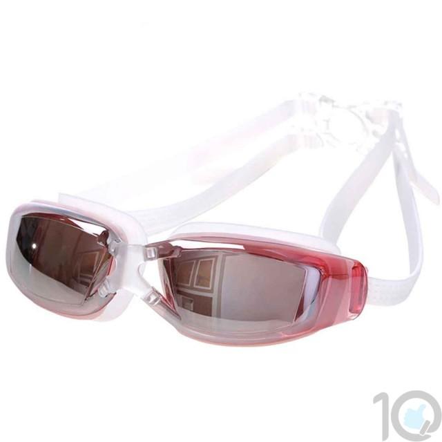 10Dare Swimming Goggles   Mirror Finish   UV Protection   10kya.com Swimming Goods Store Online