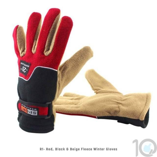 Thick & Light Winter Velvet Fleece Glove | R1 | Stylish Outdoor Wear | 10kya.com
