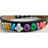 Puppy Love - Jelly Bean Slide Letters With Matching Rhinestone