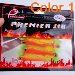 Fishing Bait Minnow 10 Pcs Pack | Orange | Lures Bass Fresh/Salt Water | Fishing Lures [ HSN 9507