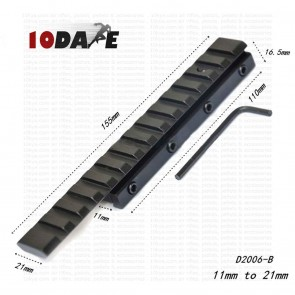 10Dare 11mm-20-21mm Extend 155mm Mount   Dovetail Weaver Picattiny Rail Adapter D2006-B   Airgun Mounts & Adapters