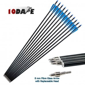10Dare Arrows for Archery Spine500 with Replaceable Head | 10kya Archery store Online