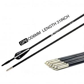 "Tiger Archery 6mm, 31"", Spine-1200 Fibre Glass Arrows   10kya.com Archery Store India"