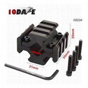 10Dare 4 Rails on 20mm Barrel Mount | 10kya.com Airgun India Store