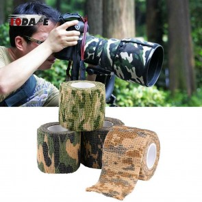 10Dare Camo Tape | Waterproof Stretch Bandage Wrap | 5CMx4.5M | Jungle Camouflage | Wildlife Shooting, Bird Watching Concealment [HSN 6501