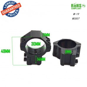 10Dare 30mm Ring Mount for 11 mm Rail M-19 | Flashlight, Laser, Scope Ring Mount | Airgun Mounts & Adapters