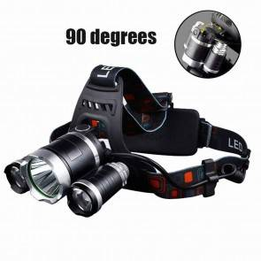 3 Lamps Head Lamp | LED XM-L L2 | 10kya Outdoor Gear India Online
