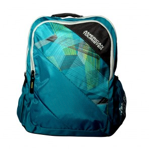 Buy Online American Tourister Backpacks code 3 Turquoise Lowest Price | 10kya.com American Tourister Online Store