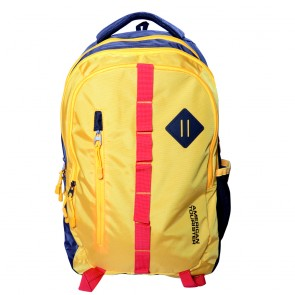 Buy Online American Tourister Backpacks Buzz 1 Yellow Lowest Price | 10kya.com American Tourister Online Store