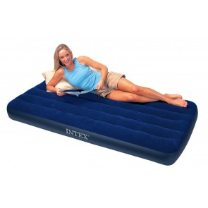 Inflatable 1 Person Mattress | Intex Classic Downy Twin Outdoor Mattress on Rent  | Rental-All-India [HSN 996312