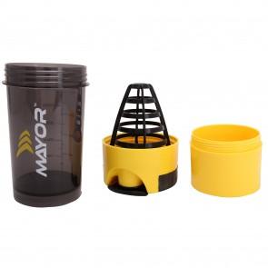 Mayor Hurricane-Shaker 600ml   MSB2000-Yellow-Black