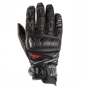 KNOX Hand Armour Orsa Leather Motorbike Gloves | Black