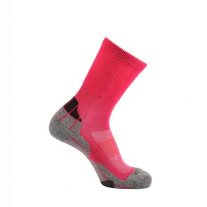 Horizon Coolmax Hiker (Technical Socks)-Cerise+Grey+Charcoal | HZ0005