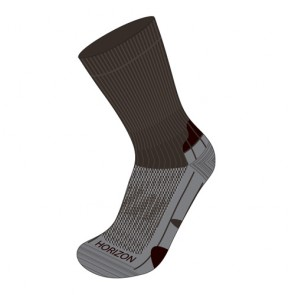 Horizon Coolmax Hiker (Technical Socks)-Mocca+Grey+Expresso | HZ0005
