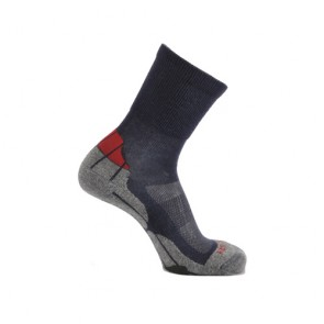 Horizon Coolmax Hiker (Technical Socks)-Navy+Grey+Red | HZ0005