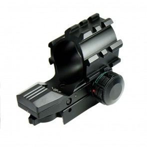 Aiming & Sighting Scope - Line of Sight | 3 Top Mounts for Accessories, Shaded Front to Avoid Reflection | Red-Green Holographic Dot Sight 20mm mount | 1X-22mm | Airgun Sights & Scopes Birdwatching, Astronomy, Shooting Scopes & Sights [HSN 90058010
