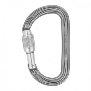 Petzl Am_D-SL Screw-Lock Grey | M34A SL | Carabiner | Climbing & Mountaineering [ HSN 95