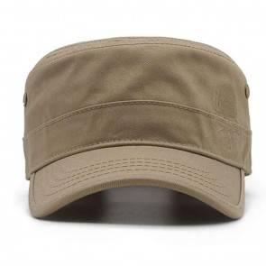 10Dare Baseball Style Outdoor Army Cap with Skull Embroidery   Khaki   Cap for Men & Women   Cotton   Outdoor Headgear [HSN 6501