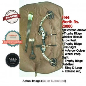 Buy Pre-Owned Bear Outbreak Compound Bow Package | Second-Hand Imported Crossbows | FREE Package Worth Rs. 20000 | Buy Sell Used Cross Bows India