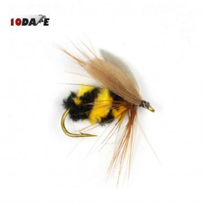 10Dare Fishing Bait Honey Bees | Pack of 10 Handmade Bionic Bees | Fly Fishing Bait | Hook size: No. 10 (~15mm) | Fishing Lures & Baits [HSN 9507