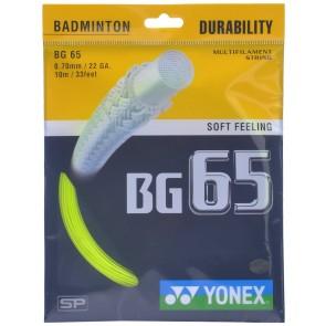 buy Yonex BG 65 Badminton Strings-0.70mm   Yellow best price 10kya.com