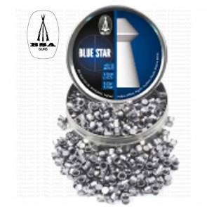 BSA Blue Star Pellets for Air Rifles |  Heavy Wad Cutting + Dome Head 8,02 gr | 0.177 - 4.5mm | 450 Pellets [ HSN 93062900