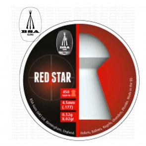 BSA Red Star Pellets | 0.177 4.5mm | 450 | 10kya Airgun India Store