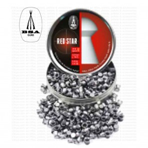 BSA Red Star Pellets for Air Rifles |  Heavy Dome Head 8,02 gr | 0.177 - 4.5mm | 450 Pellets [ HSN 93062900