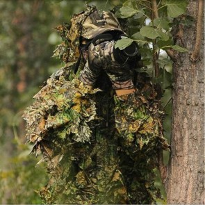 10Dare Camo Ghillie Suit | Bluestone Camouflage | Poncho with Full Head Cover | Wildlife Shooting, Bird Watching Suits [HSN 6501