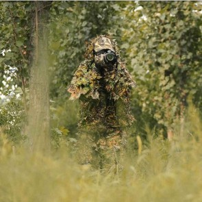 10Dare Camo Ghillie Suit | Jungle Camouflage | Poncho with Full Head Cover | Wildlife Shooting, Bird Watching Suits