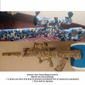 10Dare Camo Tape   Waterproof Stretch Bandage Wrap   5CMx4.5M   Water Body/Ocean Camouflage   Wildlife Shooting, Bird Watching Concealment [HSN 6501