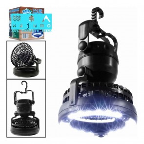 Camping Fan &  LED Light | battery Operated Outdoor Ceiling & Table Fan with Lamp | Camping Lights & Accessories [HSN 8539