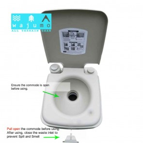 Advance Camping/Outdoor Toilet on Rent | Wajumo-ATG Camper Toilet with Flush & Jet Spray Toilet Complete Set | Camping Toilets on Rent India [HSN 996312