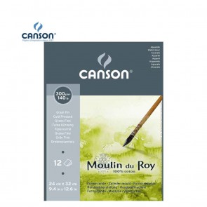 Canson Moulin du Roy - Fine Grain Short Side Glued Pad 300 gsm | 10kya.com Art & Craft Supplies