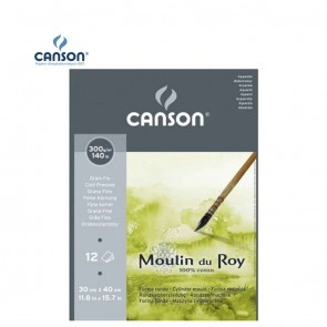 Canson Moulin du Roy - Fine Grain Short Side Glued Pad 300 gsm 30x40.5cm | 10kya.com Art & Craft Supplies
