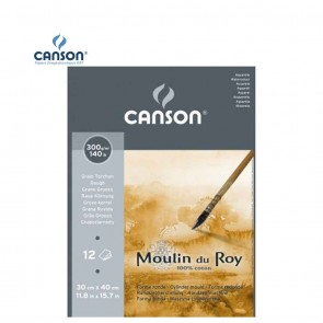 Canson Moulin du Roy - Rough Grain Short Side Glued Pad 300 gsm 30x40.5cm | 10kya.com Art & Craft Supplies