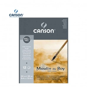 Canson Moulin du Roy - Rough Grain Short Side Glued Pad 300 gsm | 10kya.com Art & Craft Supplies