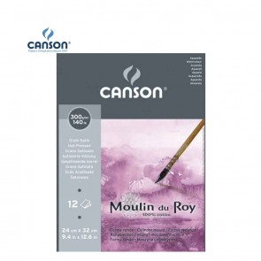 Canson Moulin du Roy - Satin Grain Short Side Glued Pad 300 gsm | 10kya.com Art & Craft Supplies
