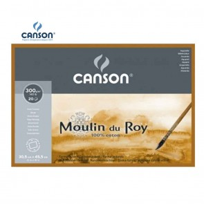 Canson Moulin du Roy - Rough Grain 4 Side Glued Pad 300 gsm | 10kya.com Art & Craft Supplies