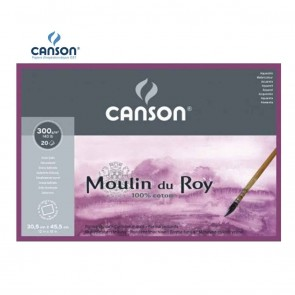 Canson Moulin du Roy - Satin Grain 4 Side Glued Pad 300 gsm | 10kya.com Art & Craft Supplies