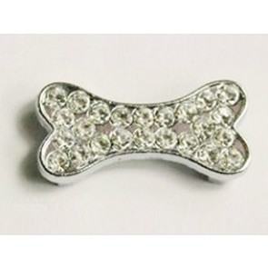 Puppy Love - Big Bone Charms With Clear Rhinestones