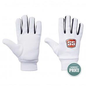 Buy SS Cotton Foam Padde Inner Gloves - White | 10kya.com SS Cricket Online Store