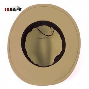 10Dare Cowboy Hat with Bull Badge   Khaki/Tan/Camel   Stetsons, Fedoras, Sombreros Sun Hats   Pure Felt Material   Outdoor Headgear [HSN 6501