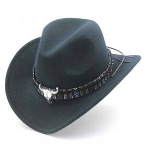 10Dare Cowboy Hat with Bull Badge   Blue   Stetsons, Fedoras, Sombreros Sun Hats   Pure Felt Material   Outdoor Headgear [HSN 6501