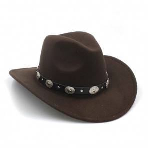 10Dare Cowboy Hat | Coffee/Dark Brown | Stetsons, Fedoras, Sombreros Sun Hats | Pure Felt Material Light Tan Colour | Outdoor Headgear [HSN 6501