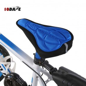 10Dare Cycle Gel Seat Cover   Blue   Comfortable Cushion Soft Seat Cover for Bike Saddle   Cycling Saddles and Covers