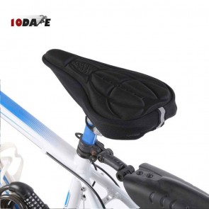 10Dare Cycle Gel Seat Cover | Black | Comfortable Cushion Soft Seat Cover for Bike Saddle | Cycling Saddles and Covers